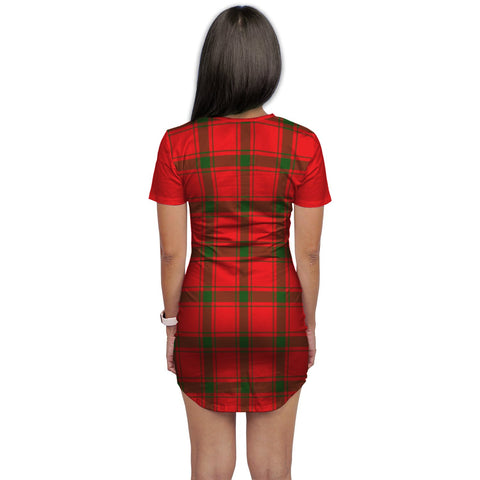 T-shirt Dress - Clan Darroch (Gourock) Tartan Plaid T-shirt Dress For Women