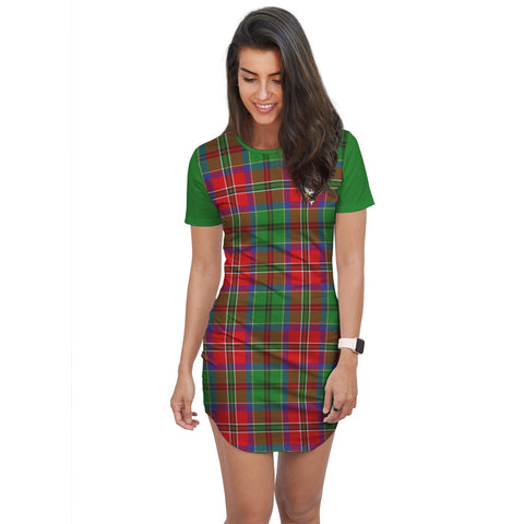 T-shirt Dress - Clan MacCulloch (McCulloch) Tartan Plaid T-shirt Dress For Women