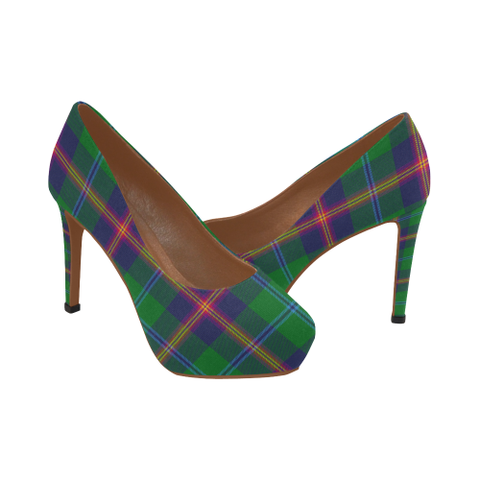 Image of Young Modern Tartan High Heels, Young Modern Tartan Low Heels