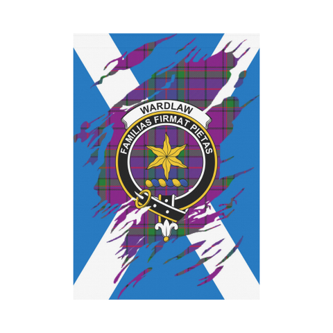 Image of ScottishShop Garden Flag - Tartan Wardlaw Lives In Me Flag
