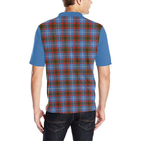 Image of Tartan Polo - Trotter Plaid Mens Polo Shirt - Clan Crest