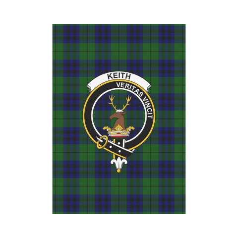 Garden Flag | Tartan Keith Modern Flag | 2 Sizes Clan Badge