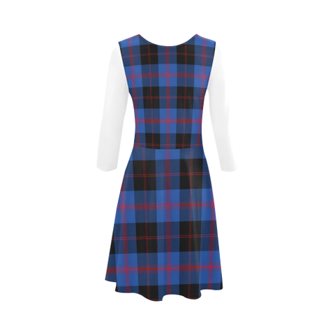 Angus Modern Tartan 3/4 Sleeve Sundress | Exclusive Over 500 Clans