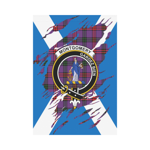 ScottishShop Garden Flag - Tartan Montgomery Lives In Me Flag