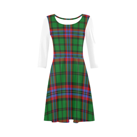 Image of McGeachie Tartan 3/4 Sleeve Sundress | Exclusive Over 500 Clans