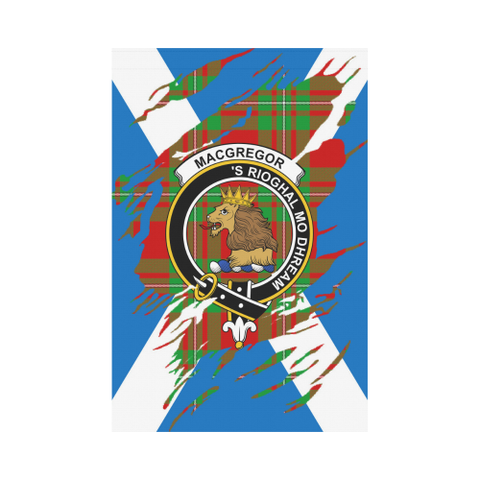 Garden Flag | Tartan Macgregor Lives In Me Flag | 2 Sizes