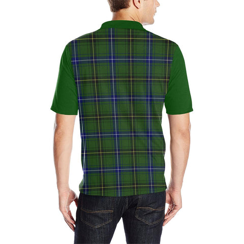 Image of Tartan Polo - Henderson Plaid Mens Polo Shirt - Clan Crest