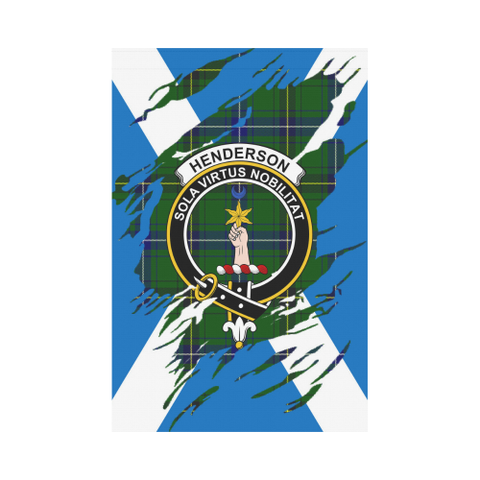 ScottishShop Garden Flag - Tartan Henderson Lives In Me Flag