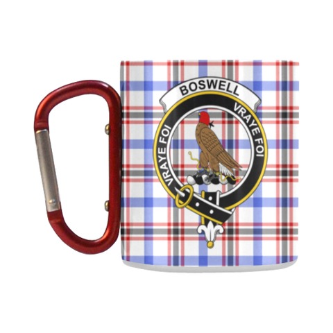ScottishShop Insulated Mug - Boswell Modern Tartan Insulated Mug - Clan Badge