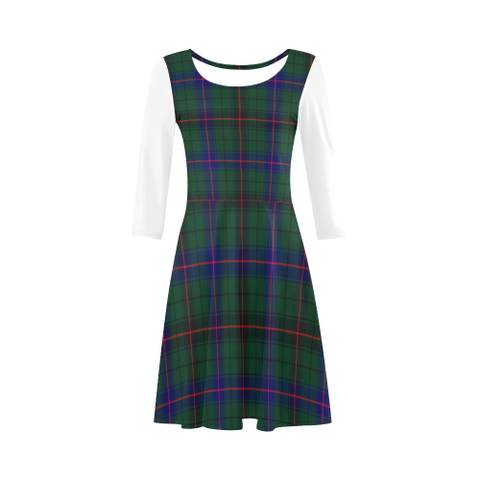 Davidson Modern Tartan 3/4 Sleeve Sundress | Exclusive Over 500 Clans