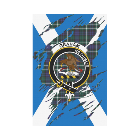 ScottishShop Garden Flag - Tartan Graham Lives In Me Flag