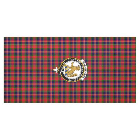 Image of MacPherson Crest Tartan Tablecloth | Home Decor