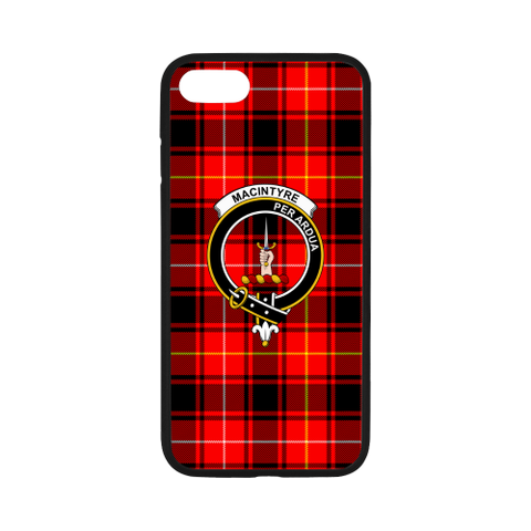 Image of Macintyre Tartan Clan Badge Rubber Phone Case