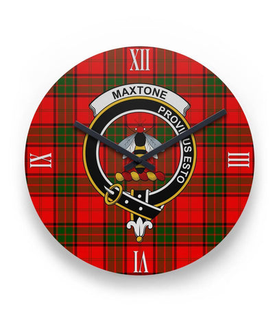 "Maxtone Tartan Wall Clock Clan Badge (11"" Round)"