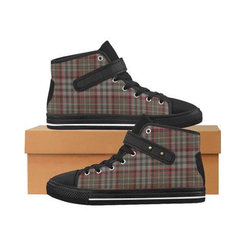 Nicolson Hunting Weathered Tartan Shoes - Aquila Strap Shoes