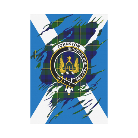 ScottishShop Garden Flag - Tartan Johnstone Lives In Me Flag