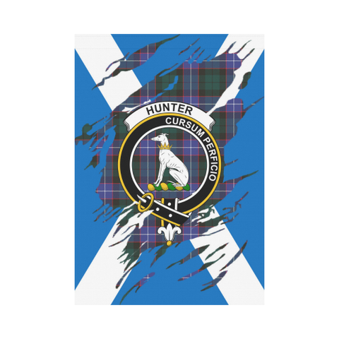 Garden Flag | Tartan Hunter Lives In Me Flag | 2 Sizes