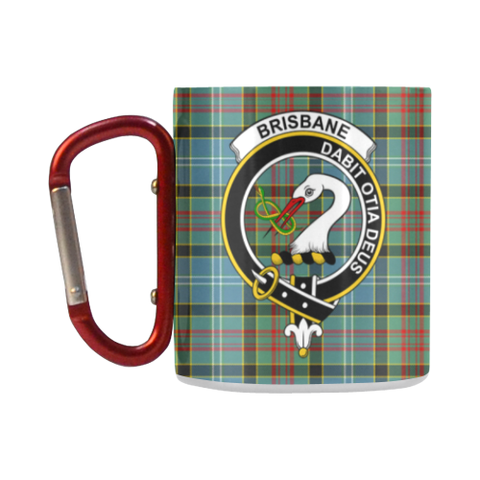 ScottishShop Insulated Mug - Brisbane Modern Tartan Insulated Mug - Clan Badge