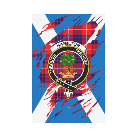 ScottishShop Garden Flag - Tartan Hamilton Lives In Me Flag