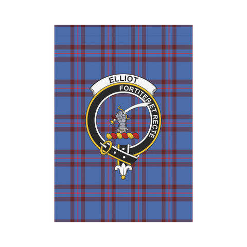 ScottishShop Garden Flag - Tartan Elliot Modern Flag  Clan Badge