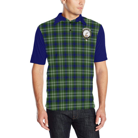 Tartan Polo - Blackadder Plaid Mens Polo Shirt - Clan Crest