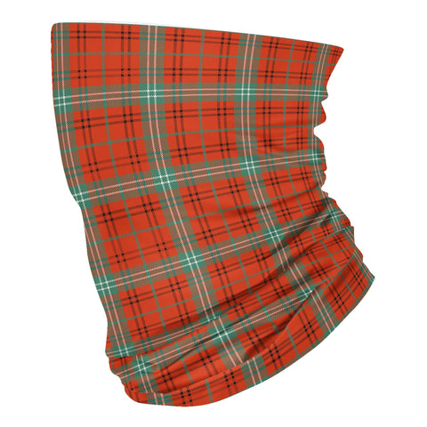 Scottish Morrison Red Ancient Tartan Neck Gaiter  (USA Shipping Line)