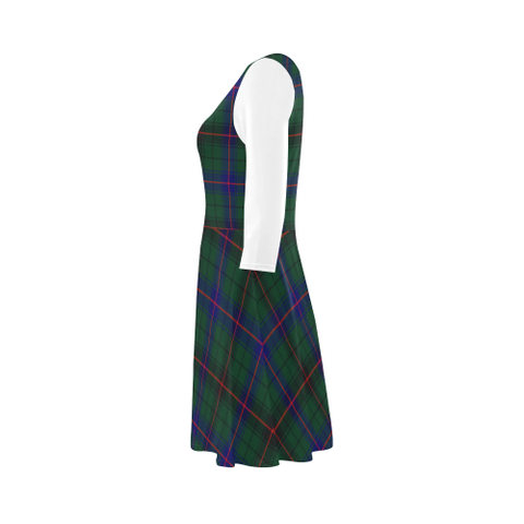 Image of Davidson Modern Tartan 3/4 Sleeve Sundress | Exclusive Over 500 Clans
