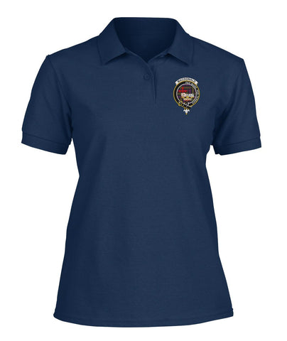 Image of Polo T-Shirt - MacDonald (Clan Donald) Tartan Polo T-shirt for Men and Women