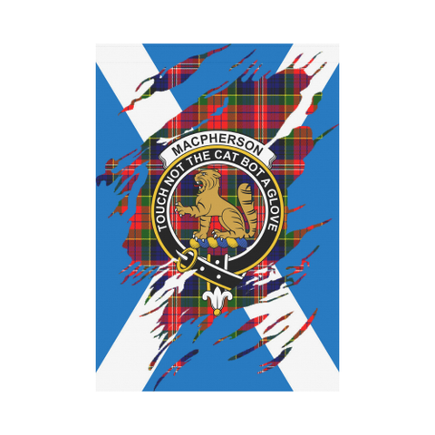ScottishShop Garden Flag - Tartan Macpherson Lives In Me Flag