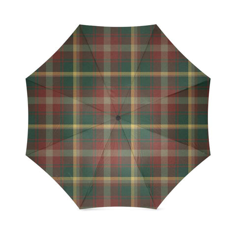 Maple Leaf Of Canada Tartan Umbrella