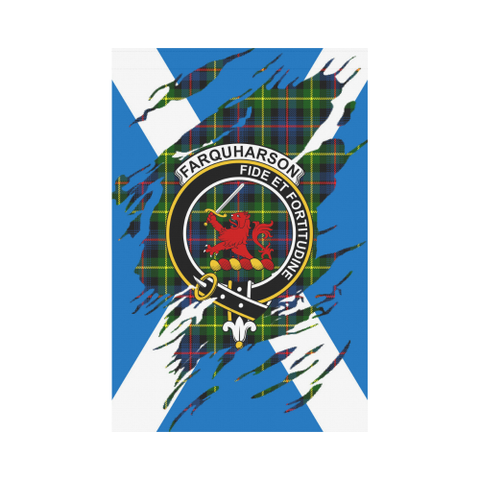 Garden Flag | Tartan Farquharson Lives In Me Flag | 2 Sizes