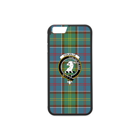 Colville District Tartan Clan Badge Rubber Phone Case