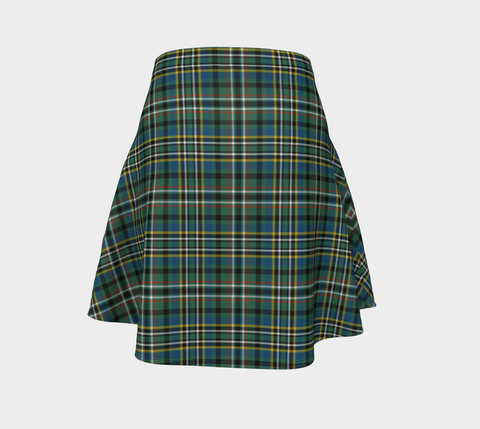 Image of Tartan Flared Skirt - SCOTT GREEN ANCIENT |Over 500 Tartans | Special Custom Design | Love Scotland