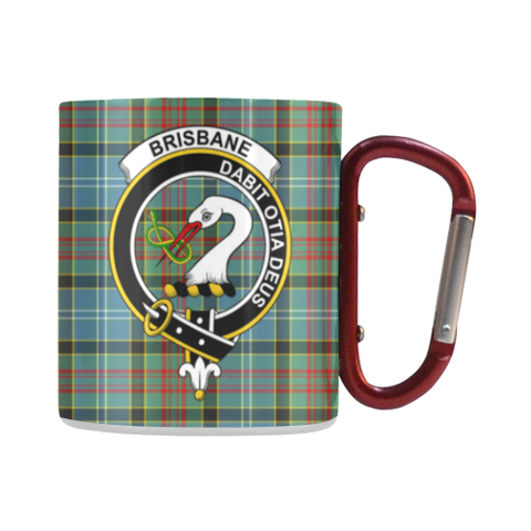 Brisbane Modern  Tartan Mug Classic Insulated - Clan Badge