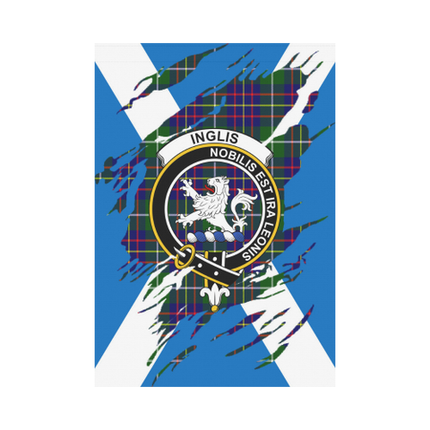 Garden Flag | Tartan Inglis Lives In Me Flag | 2 Sizes
