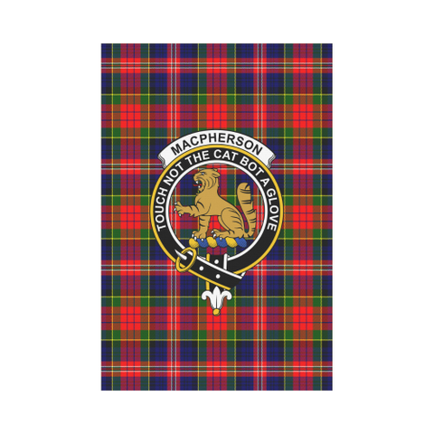 Garden Flag | Tartan Macpherson Modern Flag | 2 Sizes Clan Badge