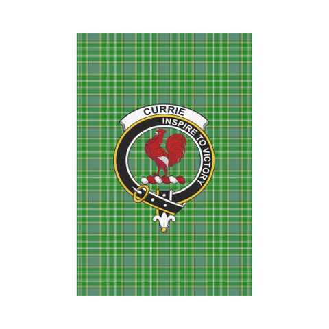 Garden Flag | Tartan Currie Flag | 2 Sizes Clan Badge