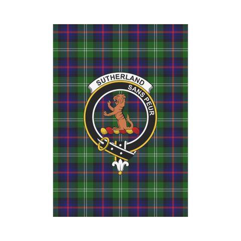 Garden Flag | Tartan Sutherland Ii Flag | 2 Sizes Clan Badge
