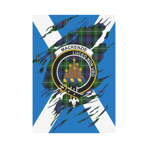 Garden Flag | Tartan Mackenzie Lives In Me Flag | 2 Sizes