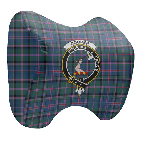 Tartan Head Cushion - Cooper Head Cushion With Clan Crest