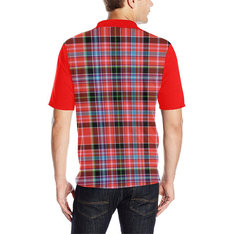 Image of Tartan Polo - Undy Plaid Mens Polo Shirt - Clan Crest