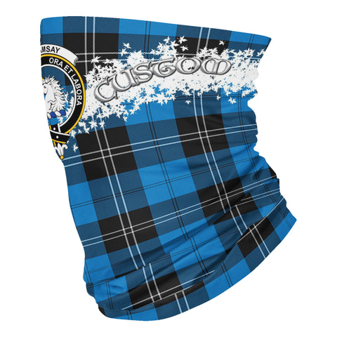 Image of Tartan Ramsay - Clan Ramsay Blue Ancient Crest Neck Gaiter