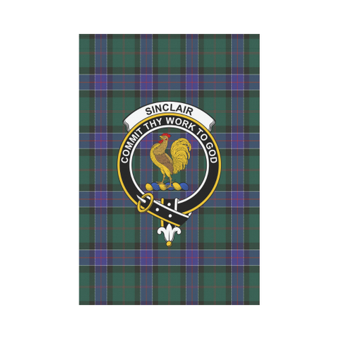 Garden Flag | Tartan Sinclair Hunting Modern Flag | 2 Sizes Clan Badge