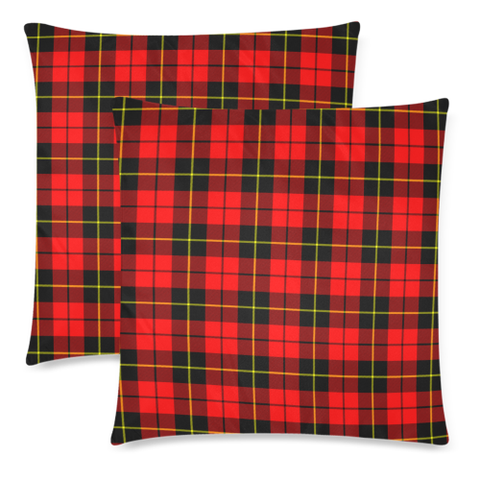Wallace Hunting - Red decorative pillow covers, Wallace Hunting - Red tartan cushion covers, Wallace Hunting - Red plaid pillow covers