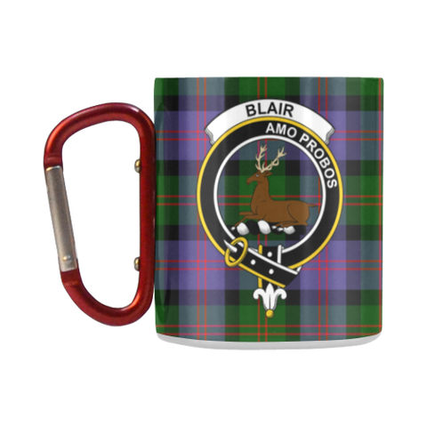 ScottishShop Insulated Mug - Blair Modern Tartan Insulated Mug - Clan Badge