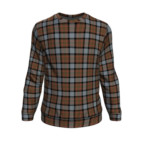 Tartan Sweatshirt - Clan MacLaren Weathered Sweatshirt For Men & Women