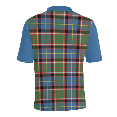 Tartan Polo - Stirling (of Cadder-Present Chief) Plaid Mens Polo Shirt - Clan Crest