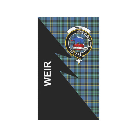 Garden Flag - Clan Weir Plaid & Crest Tartan Flag - 3 Sizes - Flash Style