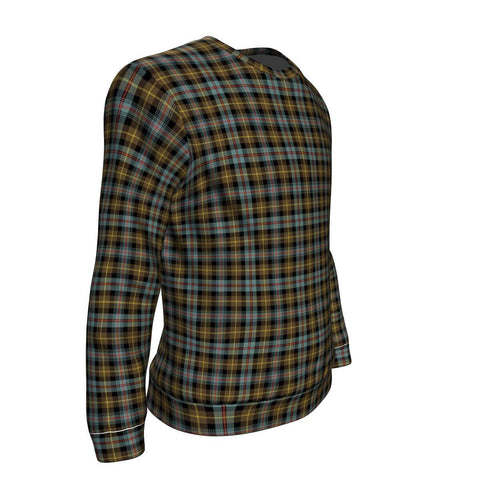 Tartan Sweatshirt - Clan Farquharson Weathered Sweatshirt For Men & Women