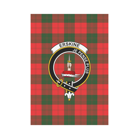 ScottishShop Garden Flag - Tartan Erskine Flag  Clan Badge